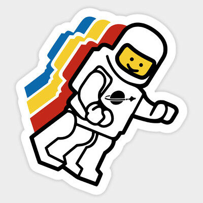 Floating Spaceman Lego Lover Toys Kid Vinyl Decal Decor Sticker Laptop Bumper