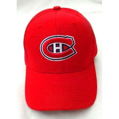 22b4eb404 MONTREAL CANADIENS HAT CAP RED BASEBALL HAT NHL ADJUSTABLE STYLE NWT