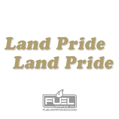 Land Pride Implement Premium Vinyl Decal 2 Pack - Equipment Decal