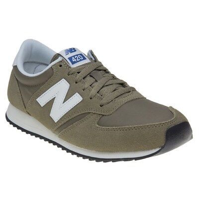 New MENS NEW BALANCE GREEN 420 SUEDE Sneakers Retro