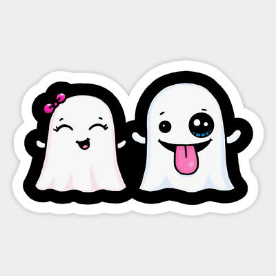 Ghost Couple Halloween Snapchat Vinyl Decal Room Decor Sticker Silly Fun Quote - Halloween Snapchat