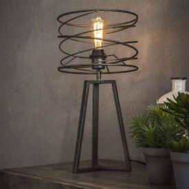 Brand New in Box - Industrial Table Light lamp - Retails at £90 - Furnwise Luca