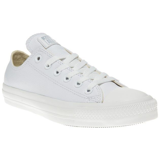 2604b02f0a26 DESIGNER White Leather 136823c Low Top Converse for Men and Women ...