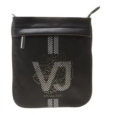 New Mens Versace Jeans Black Linea Polyester Cross Body Bag Bags