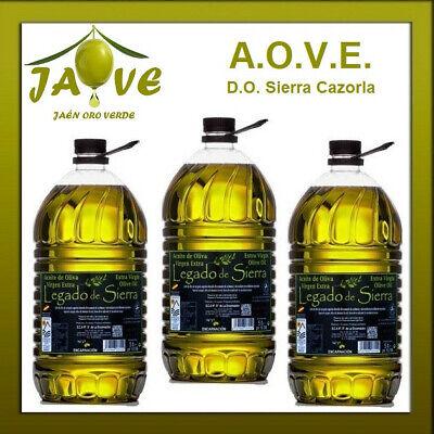 Aceite Oliva Virgen Extra 3 Garrafas de 5 litros D.O. Sierra Cazorla...