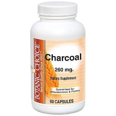 Botanic Choice Charcoal, 260 mg. 60 Capsules (260 Mg 60 Capsules)