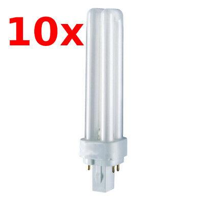 10x Osram Kompaktleuchtstofflampe Dulux D/E 13W 827 2700K warmweiß G24Q-1 4 Pin - 13w 4 Pin Lampe