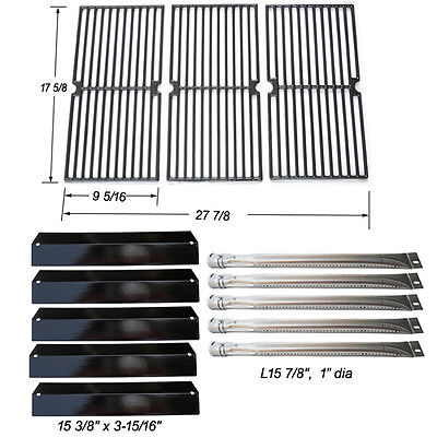 Brinkmann 810-2545-W Gas Grill Replacement Burner,Impassion Plate,Cooking Grate