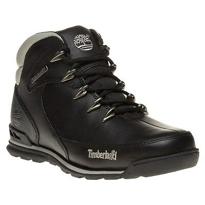New Mens Timberland Black Euro Rock Hiker Leather Boots Lace Up