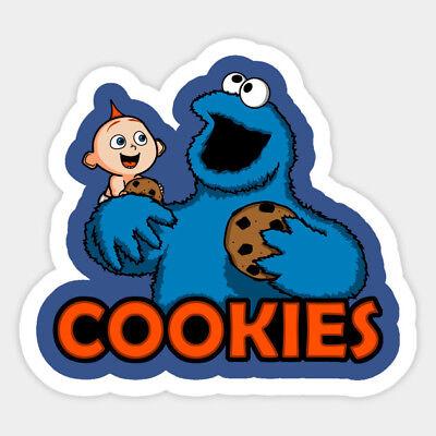 Valentines Home Decor Incredibles Jack Cookie Monster Pals Decal Decor Car Bumper Laptop Vinyl Sticker Rustic Mirrors Home Decor