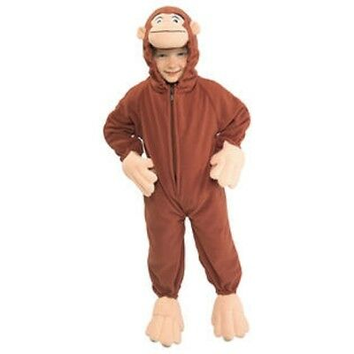 Boys Child Curious George Cute Fleece Monkey Jumpsuit Costume Outfit](Cute Kid Costumes)