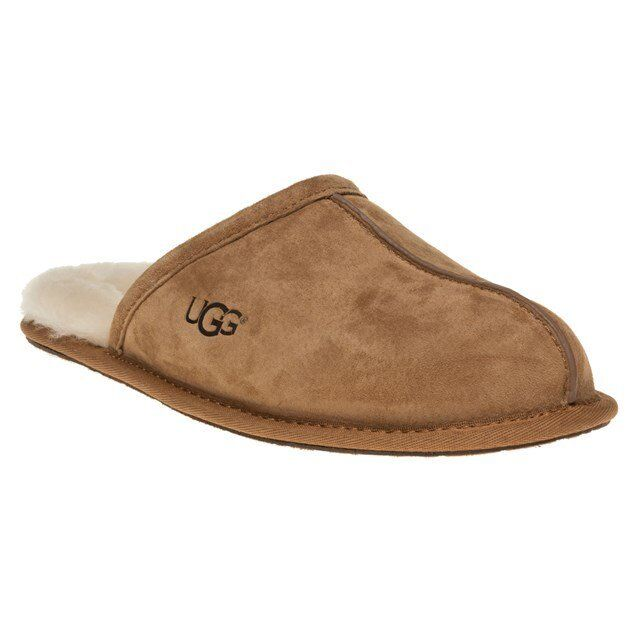 New MENS UGG® TAN SCUFF SUEDE SLIPPERS
