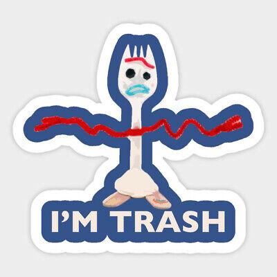 I'm Trash Forky Character Toy Decal Decor Car Bumper Laptop Vinyl Sticker