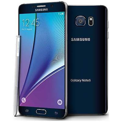 NEW SAMSUNG GALAXY NOTE 5 N920T 32GB T-MOBILE BLACK SAPPHIRE SMARTPHONE