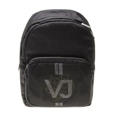 New Mens Versace Jeans Black Linea Rete Polyester Backpack Backpacks