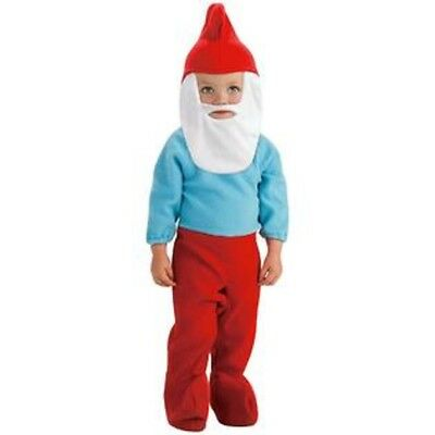 Easy Cartoon Character Costumes (Toddle Child THE SMURFS Papa Smurf Easy Romper)