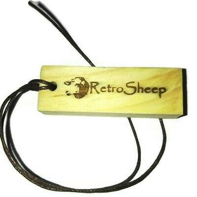 RetroSheep Natural Wood RED ROSE Scented charm Car Air Freshener fragrance Oil  Rose Natural Wood