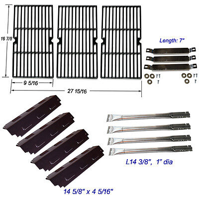 (Charbroil 463420507,463420509 Burner,Carryover Tubes,Heat Plates,Grill Grates)