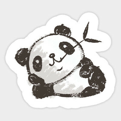 Rustic Hooks Home Decor Cute Panda Kawaii Decal Decor Car Bumper Laptop Vinyl Sticker Home Decor Jewelled Wall Decoration