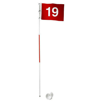 NEW Portable Golf Flag with Golf Cup Full Size Golf Practice Flag