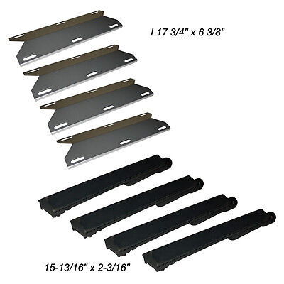 Jenn Air Gas Grill Restore Kit Replacement Grill SS Heat Plate and Burner - 4 Pk