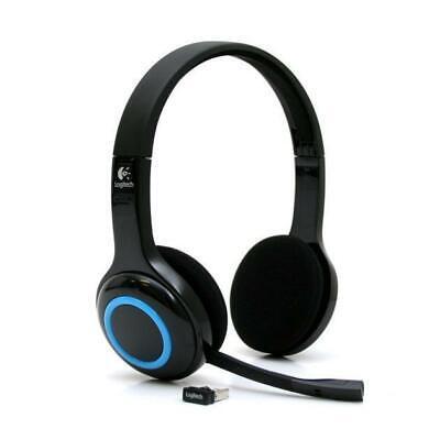 Logitech H600 Wireless Headset schnurlos schwarz-blau Bluetooth + MINI USB-Stick Mini-usb Headset