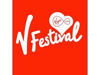 2x V Fest Weekend red camping tickets Hylands Park