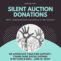 LOOKING FOR: silent auction donations!
