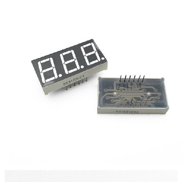 10PCS 0.56 inch 3 digit Red Led display 7 segment Common cathode new Z3