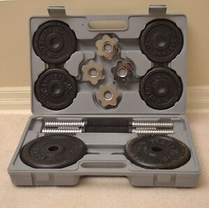 Dumb Bell Set with Carrying Case.