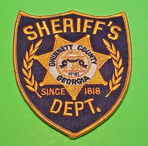 "GWINNETT COUNTY  GEORGIA  GA  SHERIFF  4 7/8""  POLICE PATCH  FREE SHIPPING!!!"