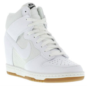 Nike Trainers Genuine Dunk Sky Hi Mesh Womens Hidden Wedged Shoe UK 4 - 8