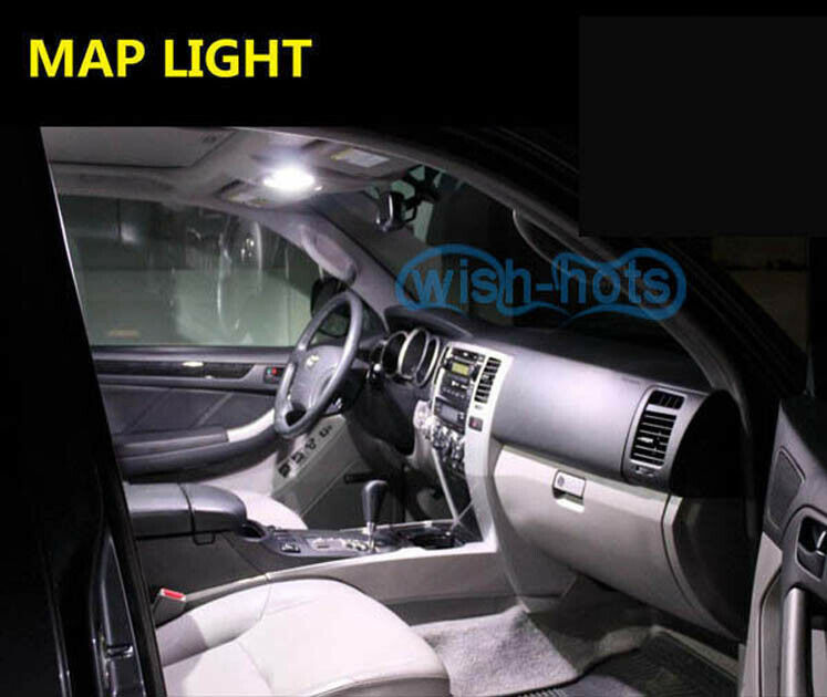 For 2017-2018 Kia Sportage WHITE Interior LED Lights Accessories Package Kit 7x