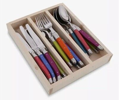 Laguiole by Jean Dubost Iridescence Cutlery Set,18 Piece Brand New & BIG SALE