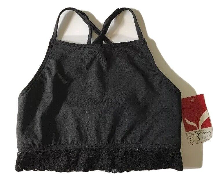 Capezio Girls Size XL Black Attitude Bra/Top Lace