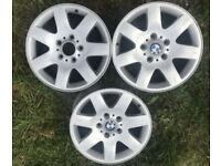 "BMW 3 SERIES E46 17"" Alloy Wheels Set of 3"