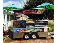 Catering Trailer.Burger/Hot Dog Fast Food Trailer With Griddle And Bain Marie's