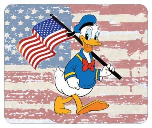 DONALD DUCK MOUSE PAD. FLAG LOGO. DISNEY CARTOONS...FREE SHIPPING