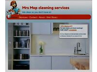 GET AN HOURS CLEANING FREE! Mrs Mop Cleaning Services offering competitive rates all over London!!!