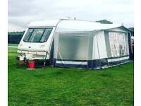 STERLING ECCLES DIAMOND 2 BERTH CARAVAN WITH AWNING AND MANY EXTRAS