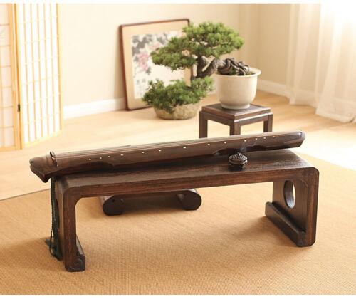ONE-BODY STYLE BUDDHISM PAULOWNIA WOOD GUQIN TABLE/STOOL SET-- 一體式禪式燒桐木古琴桌椅套裝