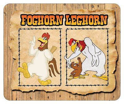 FOGHORN LEGHORN MOUSE PAD # 2. LOONEY TUNES. NAME LOGO.....FREE SHIPPING
