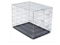 2 x LARGE DOG CRATE/ CAGE