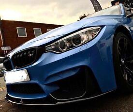 Real BMW Carbon Fibre Front Bumper Lip Canards M3 F30 M4 F82 M4 F83