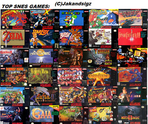 Looking for: Super Nintendo games
