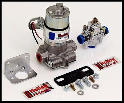 HOLLEY 110 GPH BLUE ELECTRIC FUEL PUMP WITH REGULATOR # 12-802-1-KIT