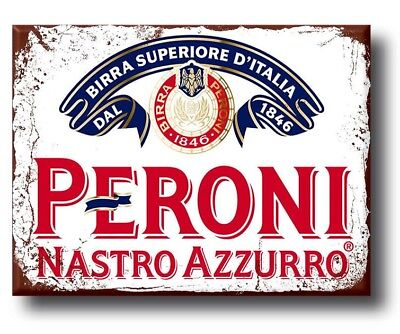 PERONI Beer Plaque Sign  vintage retro style wall door shed garage man cave gift