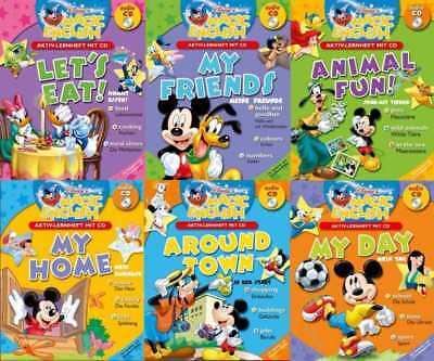 Englisch lernen mit der Disney-Familie. Band 1-6. Lernhefte + CDs