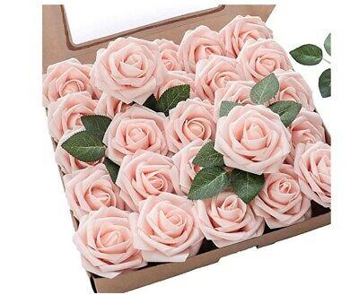 Floroom Artificial Flowers 25pcs Real Looking + FREE 300pcs Silk Rose Petals