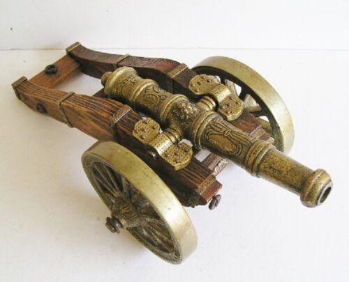 Vintage Custom Made Bronze Cannon Art Sculpture